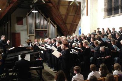 Barnes choir at Barnes Music Festival