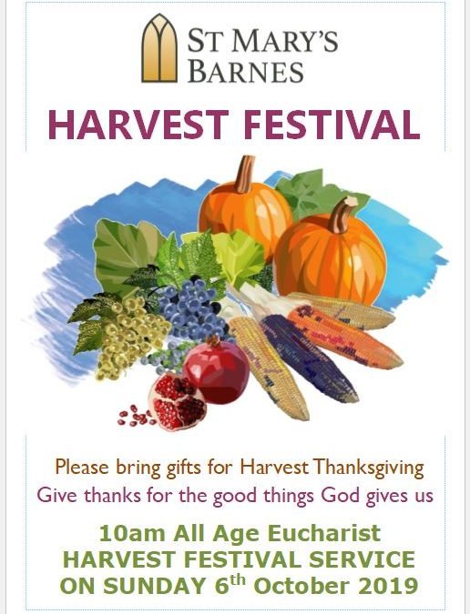 Harvest Festival Service on 6th October 2019