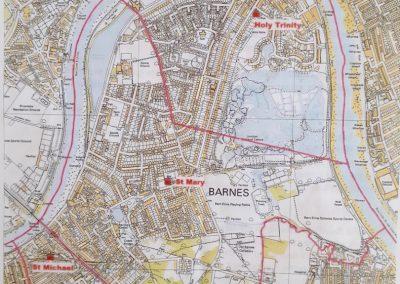 St Mary Barnes Parish Boundary
